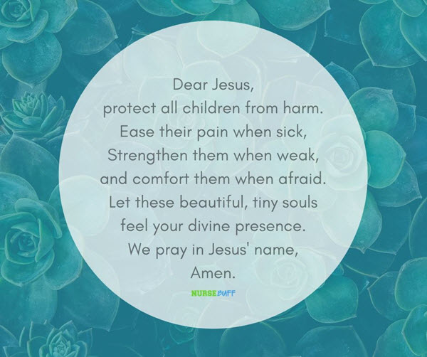 prayer for protection of a sick child