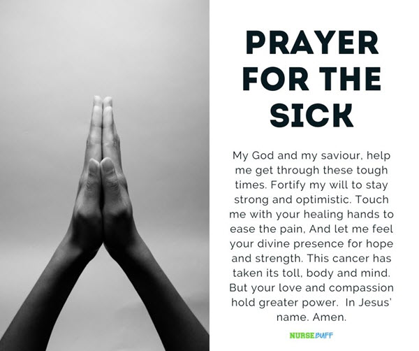 prayer for the sick cancer patients