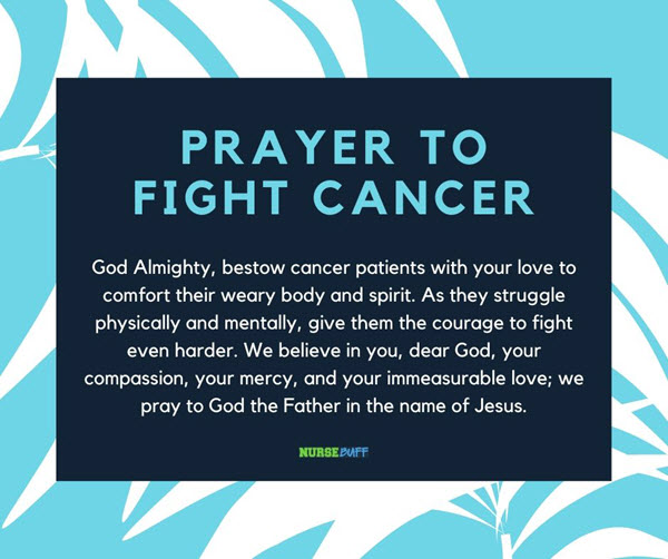 prayer to fight for cancer