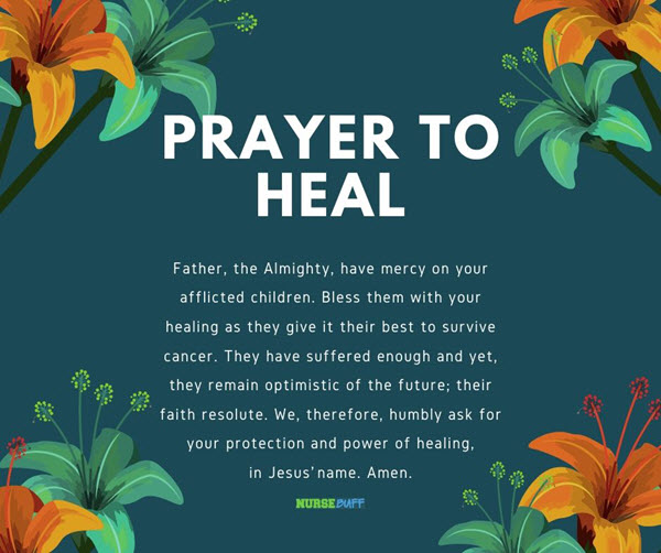 21 Powerful Healing Prayers For Cancer Patients Nursebuff